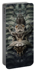 Portable Battery Charger featuring the digital art Botanical Xenomorph by WB Johnston