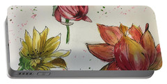 Portable Battery Charger featuring the painting Botanicals by Lucia Grilletto