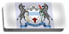 Portable Battery Charger featuring the drawing Botswana Coat Of Arms by Movie Poster Prints