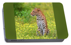 Botswana Leopard  Portable Battery Charger by Happy Home Artistry