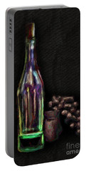 Portable Battery Charger featuring the photograph Bottle And Grapes by Walt Foegelle