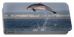 High Jump - Bottlenose Dolphin  - Scotland #42 Portable Battery Charger