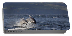 Bottlenose Dolphins Leaping - Scotland  #37 Portable Battery Charger