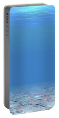 Portable Battery Charger featuring the digital art Bottom Of The Sea by Phil Perkins