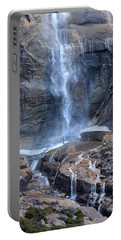 Bottom Part Of Upper Yosemite Waterfall Portable Battery Charger