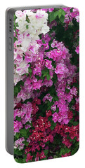 Bougainville Flowers In Hawaii Portable Battery Charger