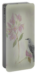 Bougainvillea And Mockingbird Portable Battery Charger