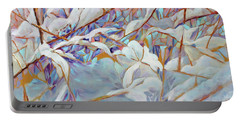 Portable Battery Charger featuring the painting Boughs In Winter by Joanne Smoley