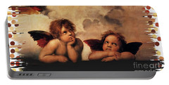Portable Battery Charger featuring the painting Bouguereau Painting Fresh Paint  by Catherine Lott