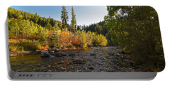 Boulder Colorado Canyon Creek Fall Foliage Portable Battery Charger