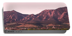 Boulder Colorado Flatirons 1st Light Panorama Portable Battery Charger by James BO  Insogna