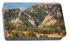 Portable Battery Charger featuring the photograph Boulder Colorado Rocky Mountain Foothills by James BO Insogna