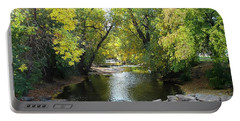 Boulder Creek Tumbling Through Early Fall Foliage Portable Battery Charger