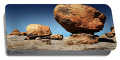 Boulder On Solid Rock Portable Battery Charger