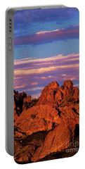 Boulders Sunset Light Pinnacles National Park Californ Portable Battery Charger