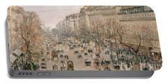 Boulevard Montmartre Afternoon Sun Portable Battery Charger