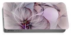 Portable Battery Charger featuring the digital art Bound Away - Fractal Art by NirvanaBlues