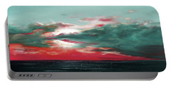 Bound Of Glory - Panoramic Sunset  Portable Battery Charger