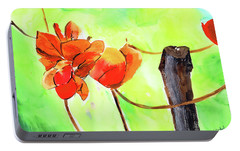 Portable Battery Charger featuring the painting Bound Yet Free by Anil Nene