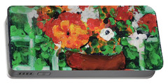 Bouquet A Day Floral Painting Original 59.00 By Elaine Elliott Portable Battery Charger