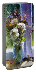 Bouquet At Window Portable Battery Charger