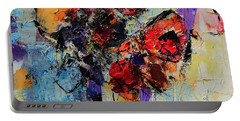 Portable Battery Charger featuring the painting Bouquet De Couleurs by Elise Palmigiani