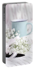 Bouquet Of Baby's Breath Portable Battery Charger by Stephanie Frey