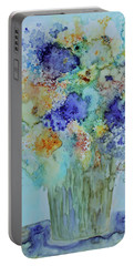 Portable Battery Charger featuring the painting Bouquet Of Blue And Gold by Joanne Smoley