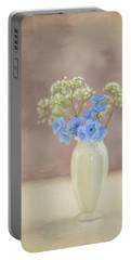 Bouquet Of Blues And Whites Portable Battery Charger
