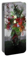 Bouquet Of Flowers Portable Battery Charger by Cedric Hampton