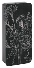 Portable Battery Charger featuring the painting Bouquet Of Flowers  by Vicki  Housel