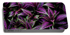 Bouquet Of Persian Shield Portable Battery Charger