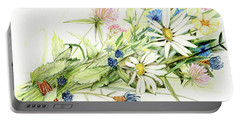 Bouquet Of Wildflowers Portable Battery Charger