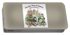 Portable Battery Charger featuring the digital art Bourbon French Perfume by ReInVintaged