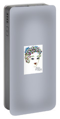 Portable Battery Charger featuring the digital art Bourjois by ReInVintaged