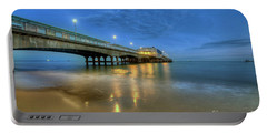 Portable Battery Charger featuring the photograph Bournemouth Pier Blue Hour by Yhun Suarez