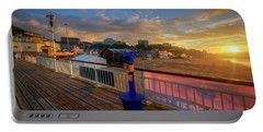 Portable Battery Charger featuring the photograph Bournemouth Pier Sunrise by Yhun Suarez