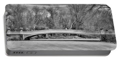 Bow Bridge In Black And White 1 Portable Battery Charger