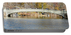 Portable Battery Charger featuring the photograph Bow Bridge With Wedding by Steven Richman