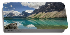 Portable Battery Charger featuring the photograph Bow Lake by Christina Lihani