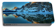 Bow Lake Sunrise Reflections Portable Battery Charger