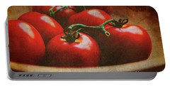 Bowl Of Tomatoes Portable Battery Charger