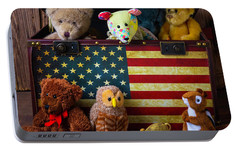 Box Full Of Bears Portable Battery Charger by Garry Gay