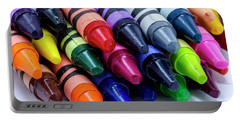 Box Of Colorful Crayons Portable Battery Charger