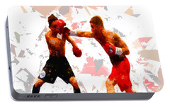 Portable Battery Charger featuring the painting Boxing 113 by Movie Poster Prints