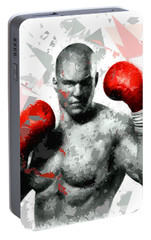 Portable Battery Charger featuring the painting Boxing 114 by Movie Poster Prints