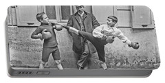 Boxing Under Eyes Of Master, 1904 Portable Battery Charger