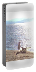 Portable Battery Charger featuring the photograph Boy And Dog by Felipe Adan Lerma