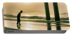 Portable Battery Charger featuring the photograph Boy At Sunrise In Alabama  by John McGraw