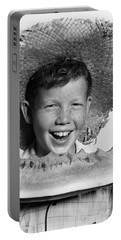 Boy Eating Watermelon, C.1940-50s Portable Battery Charger by H. Armstrong Roberts/ClassicStock